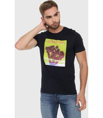 camiseta azul oscuro-multicolor jack & jones