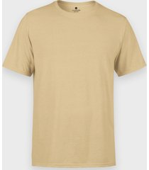 męska koszulka (bez nadruku, gładka) - piaskowa
