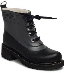 short rubber boot regnstövlar skor grå ilse jacobsen