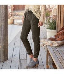 ankle detail lace up pants