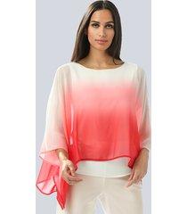 blouse alba moda koraal::offwhite