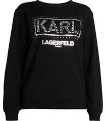 embellished logo sweatshirt