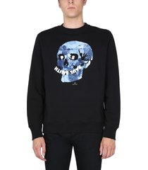 ps by paul smith floral skull sweatshirt