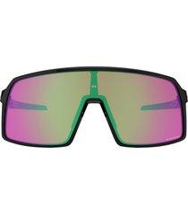 oakley sutro 137mm shield sunglasses in black/prizm snow jade at nordstrom