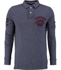 superdry blauwe slim fit polo sweater valt kleiner