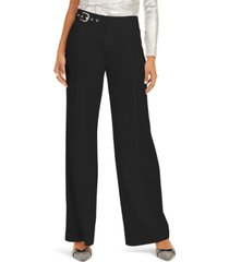 inc side-belt wide-leg pants, created for macy's