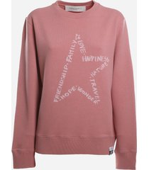golden goose cotton sweatshirt with contrasting print
