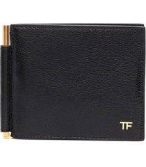 tom ford polished goat t line money clip wallet