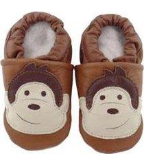 pantufa catz calçados infantil couro nicky macaco - unissex