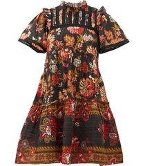pascale floral-print cotton mini dress