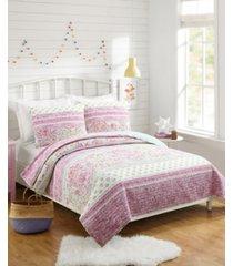 palm beach paisley full/queen 3-piece quilt set bedding