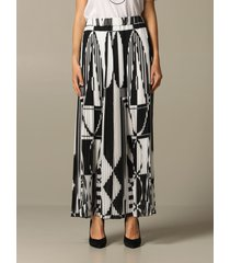 balmain skirt long balmain skirt with geometric print