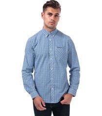 mens long sleeve house check shirt