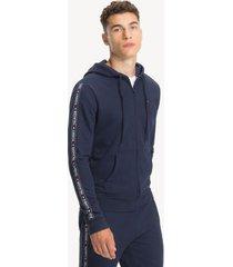 tommy hilfiger men's sport hoodie navy blazer - m