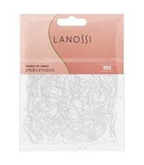 elásticos de cabelo lanossi invisíveis - 100 unidades