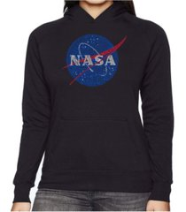 la pop art women's word art hooded sweatshirt -nasa's most notable missions