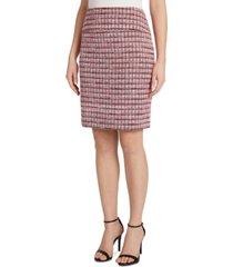 tahari asl jacquard a-line skirt