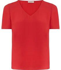 curve t-shirt met v-hals
