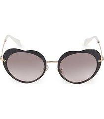 52mm gradient circle sunglasses