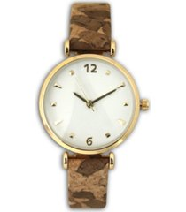 cork strap watch