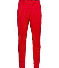 adicolor classics primeblue sst track pants sweatpants mjukisbyxor röd adidas originals