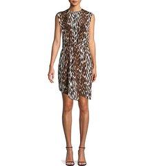 wild-print silk asymmetrical dress