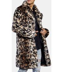 cappotto di pelliccia a leopardi