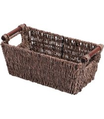 vintiquewise seagrass counter-top basket