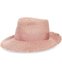 women's eric javits look again packable fedora - pink