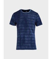 camiseta rayas cuello redondo para hombre 05184