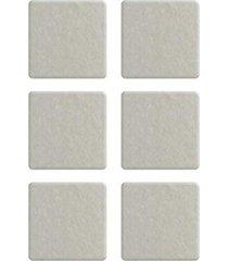 protetor adesivo para móveis bemfixa, feltro quadrado, 25 x 25 mm, 12 peças