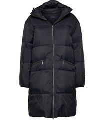 nora parka gevoerde lange jas blauw lexington clothing