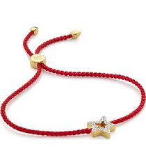 gold alphabet star diamond friendship bracelet - limited edition diamond