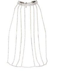 symmetric crystal embellished skirt belt