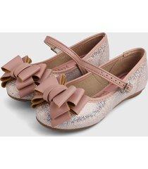 baleta palo rosa-plateado molekinha