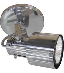 spot de sobrepor em alumínio para 1 lâmpada polido e lixado