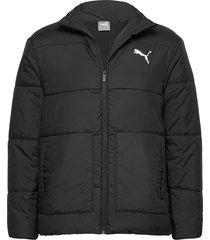 ess+ padded jacket gevoerd jack zwart puma