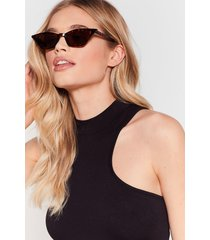 womens shade for each other cat-eye sunglasses - brown