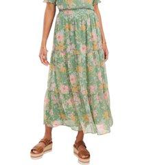 vince camuto verona garden tiered ruffled skirt