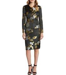 tahari asl floral jacquard skirt suit