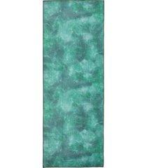 manduka equa yoga mat towel camo green tie dye lightweight microfiber