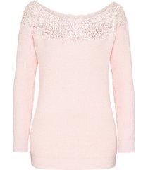 maglione con pizzo (rosa) - bodyflirt