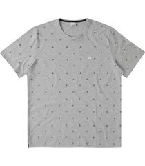 camiseta tradicional sustentável ilustração wee! cinza claro - p