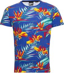 aop floral tee t-shirts short-sleeved multi/mönstrad superdry