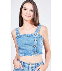 top cropped em jeans