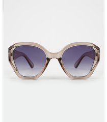 óculos de sol geométrico feminino yessica chumbo