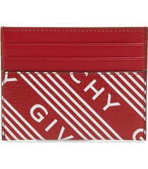 women's givenchy logo band leather card case -