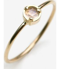 pierścionek z żółtego złota z kamieniem księżycowym