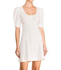 parker women's kierra puff-sleeve mini dress - ivory - size 6