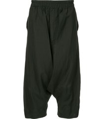 julius drop-crotch shorts - black